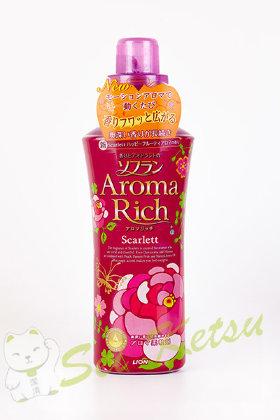 Кондиционер для белья soflan aromarich c натуральными маслами роза мимоза персик и фруктов