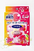 """""""Shoushuuriki"""" Освежитель воздуха для шкафов на основе желе-сенсора с ароматом льна и цветов (запасной блок) 32г (121397)"""