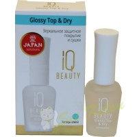 """IQ BEAUTY Glossy Top&Dry"" Зеркальное покрытие и сушка, 12,5 мл. (600022)"